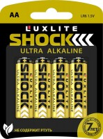 Батарейки Luxlite Shock (GOLD) типа АА - 4 шт.